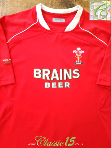 2006/07 Wales Home Pro-Fit Rugby Shirt (L)