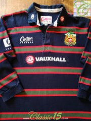 1999/00 Leicester Tigers Away Rugby Shirt. (XL)