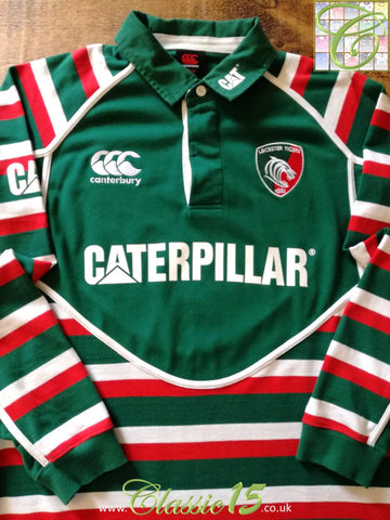 2012/13 Leicester Tigers Home Rugby Shirt. (M)