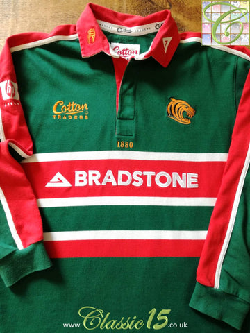 2002/03 Leicester Tigers Home Rugby Shirt. (XL)