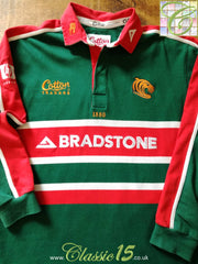 2002/03 Leicester Tigers Home Rugby Shirt. (L)