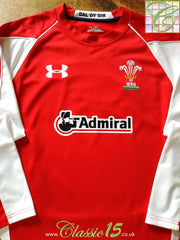 2010/11 Wales Home Rugby Shirt. (XL)