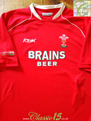 2006/07 Wales Home Pro-Fit Rugby Shirt (XL)