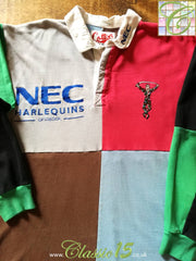 1996/97 Harlequins Home Rugby Shirt. (S)