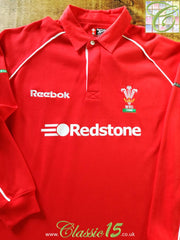 2000/01 Wales Home Rugby Shirt. (XL)