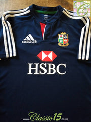 2013 British & Irish Lions Rugby Training Shirt Navy (L)