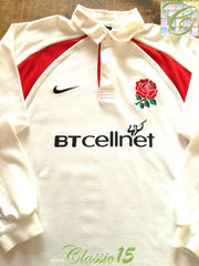 2001/02 England Home Rugby Shirt. (S)