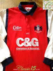 2005/06 Gloucester Home Rugby Shirt. (XL)