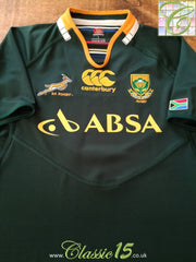 2011/12 South Africa Home Pro-Fit Rugby Shirt (S)