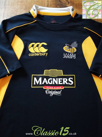 2007/08 London Wasps Home Pro-Fit Rugby Shirt (L)