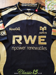 2009/10 Ospreys Home Rugby Shirt (M)