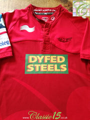 2011/12 Scarlets Home Rugby Shirt (XL)
