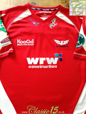 2008/09 Scarlets Home Rugby Shirt (XL)