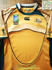 2007 Australia Home World Cup Pro-Fit Rugby Shirt (L)
