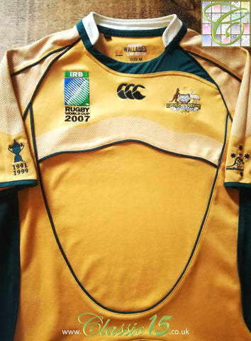 2007 Australia Home World Cup Pro-Fit Rugby Shirt (M)