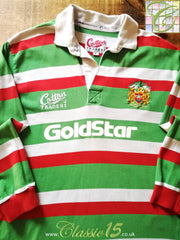 1996/97 Leicester Tigers Home Rugby Shirt (L)