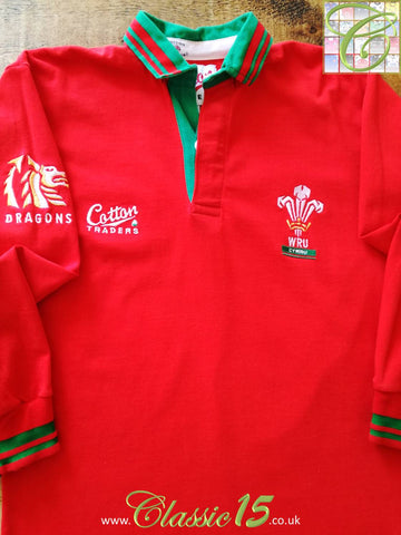 1991/92 Wales Home Rugby Shirt (S)