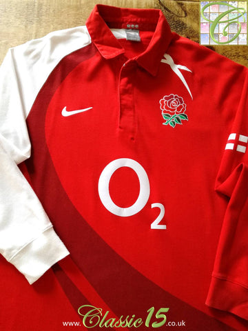 2007/08 England Away Rugby Shirt. (XL)