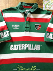 2009/10 Leicester Tigers Home Rugby Shirt (L)