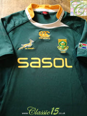 2009/10 South Africa Home Pro-Fit Rugby Shirt (M)