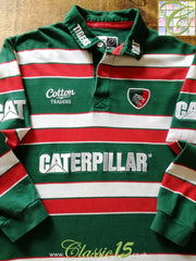 2011/12 Leicester Tigers Home Rugby Shirt. (L)