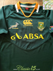 2011/12 South Africa Home Pro-Fit Rugby Shirt. (XXL)