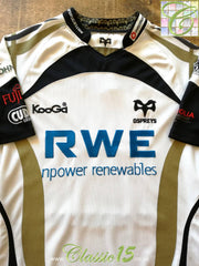 2009/10 Ospreys Away Rugby Shirt (XL)