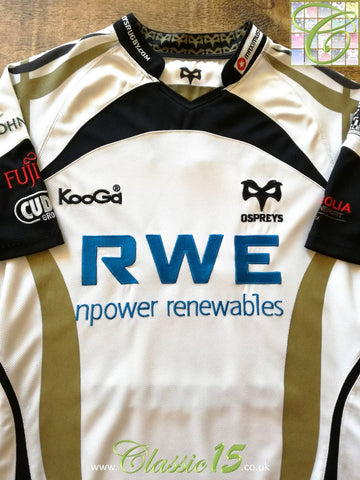 2009/10 Ospreys Away Rugby Shirt (L)