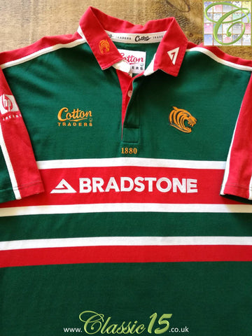 2002/03 Leicester Tigers Home Rugby Shirt (XL)