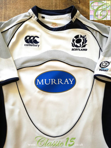 2007/08 Scotland Away Pro-Fit Rugby Shirt (S)