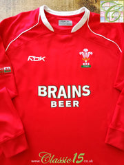 2006/07 Wales Home Pro-Fit Rugby Shirt. (L)