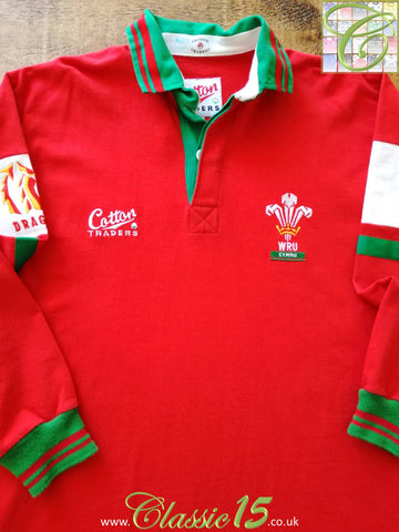1993/94 Wales Home Rugby Shirt. (L)