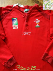 2007 Wales Home World Cup Rugby Shirt. (L)