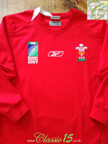 2007 Wales Home World Cup Pro-Fit Rugby Shirt. (M)