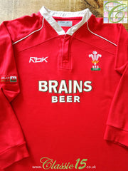 2006/07 Wales Home Rugby Shirt. (XL)