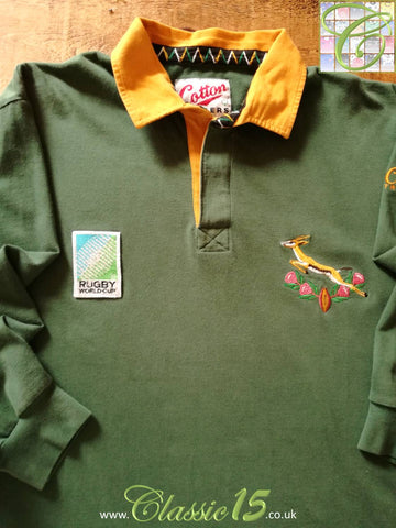 1995 South Africa Home World Cup Rugby Shirt (L)