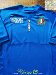 2011 Italy Home World Cup Rugby Shirt (L)