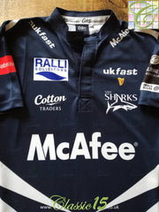 2007/08 Sale Sharks Home Premiership Player Specification Rugby Shirt (M)