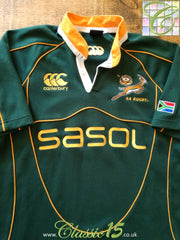 2007/08 South Africa Home Rugby Shirt (M)