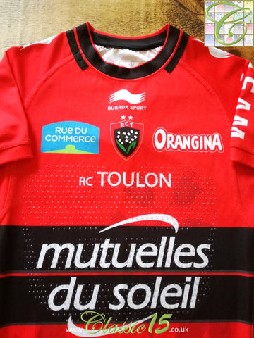 2014/15 Toulon Home Player Specification Rugby Shirt (M)