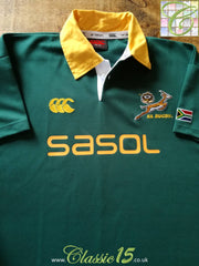 2005/06 South Africa Home Pro-Fit Rugby Shirt (XL)