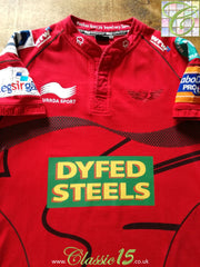 2011/12 Scarlets Home Pro 12 Rugby Shirt (M)