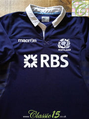 2013/14 Scotland Home Pro-Fit Rugby Shirt (XL)
