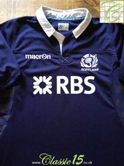 2013/14 Scotland Home Pro-Fit Rugby Shirt (XXL)