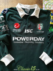 2011/12 London Irish Home Premiership Rugby Shirt. (M)