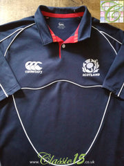 2007/08 Scotland Rugby Training Shirt Blue (XXL)