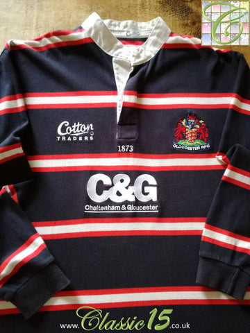 2003/04 Gloucester Away Rugby Shirt. (L)