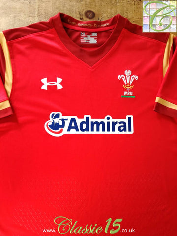 2015/16 Wales Home Rugby Shirt (S) (Loose)