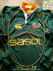 2007/08 South Africa Home Rugby Shirt. (XXL)