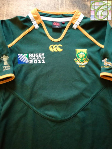 2011 South Africa Home World Cup Pro-Fit Rugby Shirt (M)